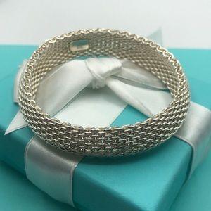 🎁Tiffany & Co Somerset Mesh Bangle Bracelet
